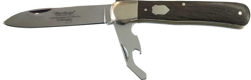 1252 Hartkopf Solingen Messer Taschenmesser Federdrückermesser in Mooreiche  kleine Auflage