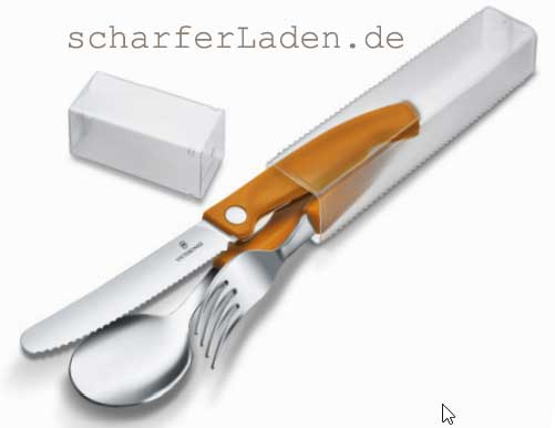 VICTORINOX SWISS CLASSIC Besteck orange Set 3-teilig