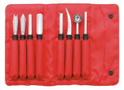 TRIANGLE Modell PROFESSIONAL Schnitzmesser rot Set 8-teilig