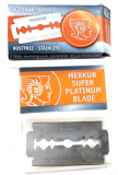10 MERKUR SUPER PLATINUM  Blades  in Paper