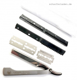 DOVO Model SHAVETTE razor with interchangeable blade stainless steel polished