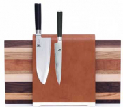 Supergrey Wood Leather Block For Knives without Knives
