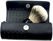 1 Shaving brush Travel Case leather Case EMPTY Made in Germany Solingen