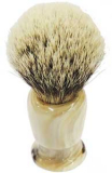 24mm Ring caliber real Horn luxury shaving brush silver tip