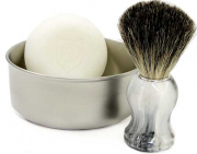 3 pieces Set Shaving Bowl Shaving Brush and 2 Golddachs Shaving soaps