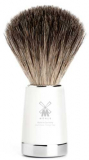 21mm Shaving Brush real Badgers Hair high-grade resin white
