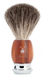 21mm Shaving Brush Badger Hair in Grip Plumwood