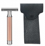 89 ROSEGOLD TRADITIONAL Razor Pouch MÜHLE  safety Razor Grip Material Metall red gold