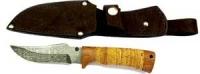 Damast Messer feststehend