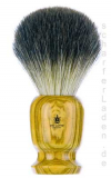1 Shaving Brush Olive Wood badger hair