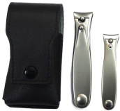 2 luxury nail scissors Solingen incl. leather case