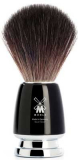 21mm Black Fibre shaving brush Rytmo for animal rights activists